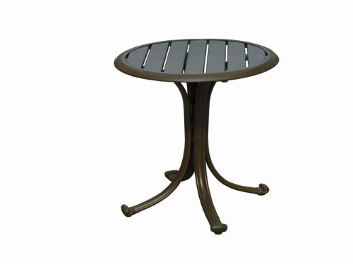 Panama Jack Outdoor Island Breeze Patio End Table with Slatted Aluminum Top photo