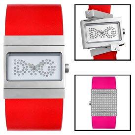 Women's Amanda Gemstone Red Pink Leather