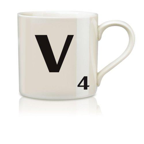Imagen de Salvaje y Wolf Ltd Scrabble Alfabeto Taza - V * Harsboro taza de café Bebidas SCR022