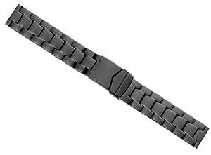 Minott Uhrenbänder RE-23471-22B - Correa para reloj, acero inoxidable, color negro marca Minott Uhrenbänder