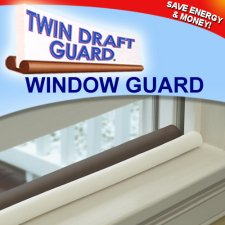 Twin Window Draft Guard Power Bill Saver As Seen on TV (Set of 2)