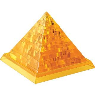 Great American Puzzle Factory Pyramid - 3D Crystal Puzzle - Orange