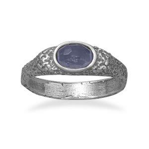 Oxidized Purple CZ Ring/ Size 8