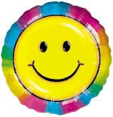 "Anagram International Keep on Smilin' Foil Package Balloon, 18"", Multicolor"