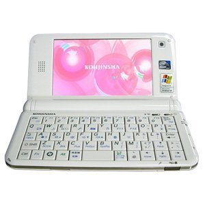工人舎 モバイルPC KOHJINSHA PM1シリーズ AtomZ510 SSD16GB WinXP HomeSP3 ホワイト PM1WX16SA