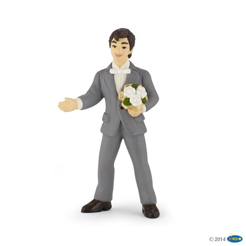 Papo Groom with Bouquet Toy Figure