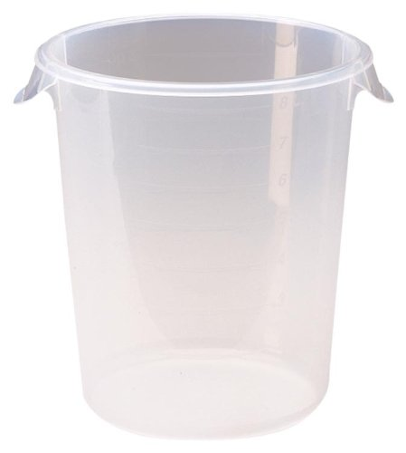 Rubbermaid Commercial Fg572424Clr Food Storage Container, Round, Clear Polyethylene, 8-Quart