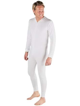 Sous-Vêtements Thermique (Tout-en-Un) Pour Homme White Large