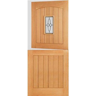 LPD Door, Exterior External Door, - Cottage Stable 1L Double Glazed Oak - 78