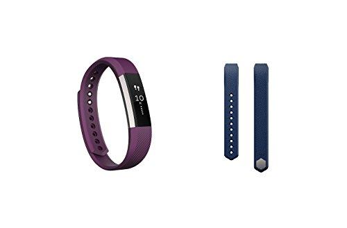 Fitbit Alta (Plum, Small) + Accessory Band (Blue, Small)