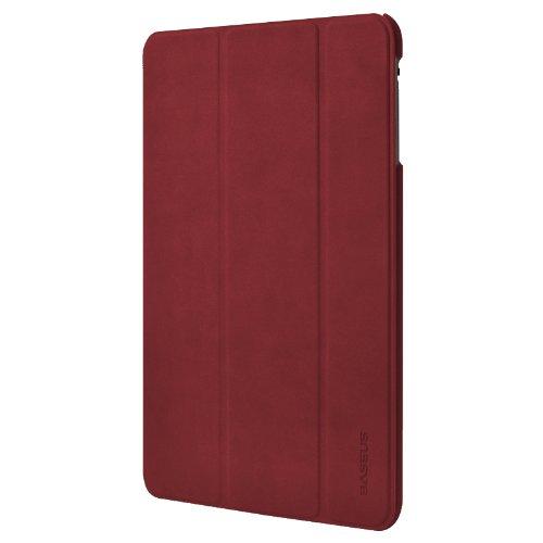 BASEUS Apple iPad mini Grace Leather Case Simplism Series 【 アップル Softbank ソフトバンク au アイパッド ミニ 対応 グレース レザー スマートフォン タブレット タブ ノート カバー ケース シンプリズム シリーズ 】 Red レッド 赤 LTAPMINI-09