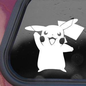 Pokemon-White-Sticker-Decal-Pikachu-Card-Game-Laptop-Die-cut-White-Sticker-Decal-by-Bargain-Max-Decals
