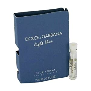 Dolce & Gabbana Light Blue for Men 2 ml /0.06 oz Eau de Toilette Sampler Vial