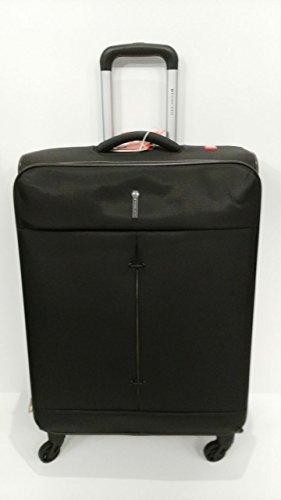 RONCATO IRONIK - TROLLEY GRANDE ESPANDIBILE 4 RUOTE - CM 78X48X29/32 - LT. 103/113 - KG 3,2 - CHIUSURA COMBINAZIONE TSA (NERO)