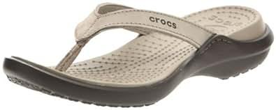 Crocs Women's Capri IV Sandal,Mushroom/Espresso,4 M US