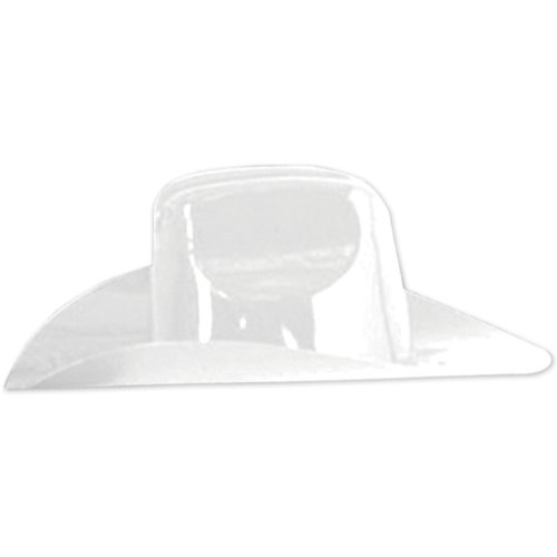 Miniature Plastic Cowboy Hat (white) Party Accessory  (1 count) - 1