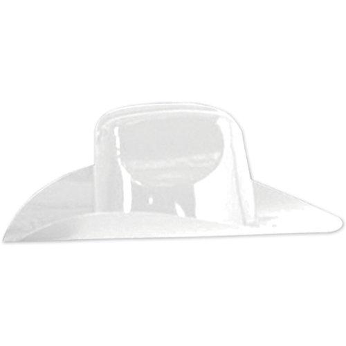 Miniature Plastic Cowboy Hat (white) Party Accessory  (1 count) - 1