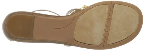 Nine West Women's Whitesand Thong Sandal,Pink Synthetic,10 M US