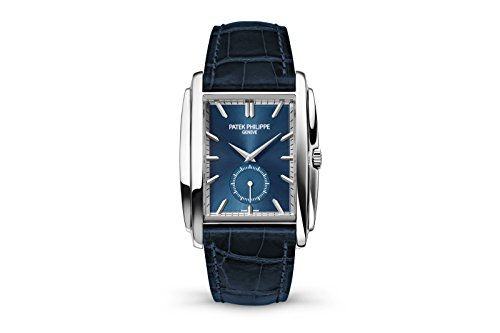 patek-philippe-gondolo-mens-white-gold-watch-blue-leather-strap