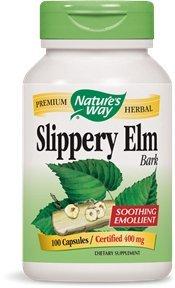 Nature's Way Slippery Elm Bark, 400 mg, 100 Capsules (Pack of 2)