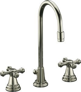 IV George Brass WIdespread Lavatory Faucet w/ Swing Spout & Cross Handles - K-6813-3