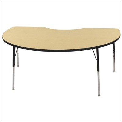 Ecr4kids 48 x 72 kidney activity school table standard legs w swivel glides adjustable - Table glides for legs ...