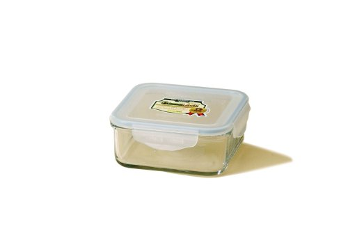 Kinetic Glasslock Series 30-Ounce Square Glass Food Storage Container With Locking Lid 01313