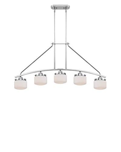 Nuvo Lighting Austin 5-Light Island Pendant, Polished Nickel
