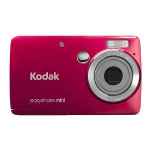 Kodak EasyShare Mini M200 - 8422420 - 10 MP Digital Camera with 3x Optical Zoom and 2.5-Inch LCD - Red