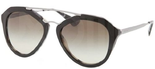 prada Prada PR12QS Sunglasses-ROK/4M1 Top Black/White Havana (Green Grad Lens)-54mm