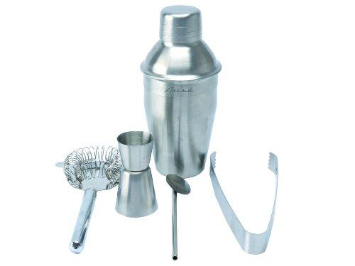 Brink Cocktail Shaker Set Stainless Steel Brushed
