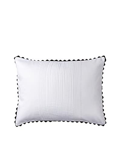 Vera Wang Pom Poms Decorative Pillow, Grey/White