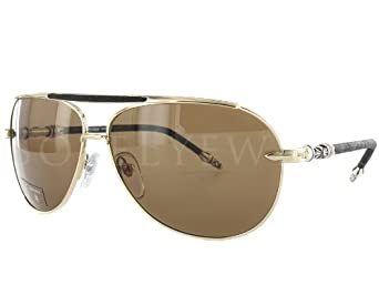 4323b17cb1c Chrome Hearts Muncher Gold-tone Brown Sunglasses Online
