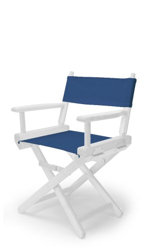 Telescope Casual Child's Director Chair, Blue with White Frame