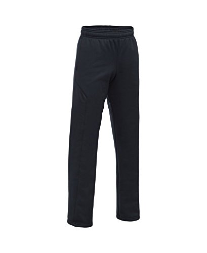 Under Armour Boys' Storm Armour Fleece Big Logo Pants, Black (006), Youth Large