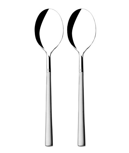 Worldex Table Dinner Spoon, 18/10 Stainless Steel French Coffee Spoons, Soup Spoons, Heavyweight, Set of 2