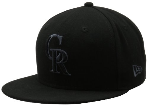 MLB Colorado Rockies Black & Gray 59Fifty Fitted Cap, Black/Gray, 778 at Amazon.com