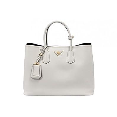 Prada Women\u0026#39;s Saffiano Cuir Tote Bag BN2761 F0K74 Talco (Talcum ...