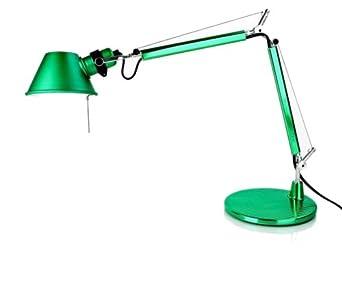 colore: Bianco laccato altezza 37 cm TOLOMEO Micro lampada da scrivania