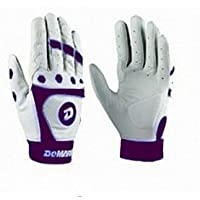 DeMarini Fastpitch CF3 Adult Batting Gloves (Purple, Small)