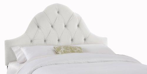 Skyline Furniture Velvet Full/Queen Tufted High Arc Headboard, White