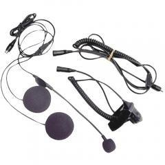 Avph1 Open-Face Helmet Headset Speaker/Microphone