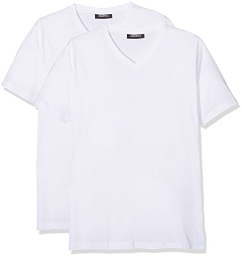 lagerfeld-duo-pack-v-neck-camiseta-para-hombre-weiss-weiss-10-large-lot-de-2-