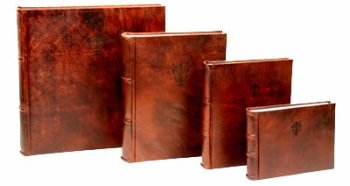 Collection of 4 handmade Italian Leather Albums and ScrapbooksB0001D9MXM : image