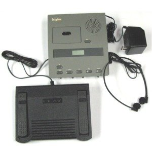 Dictaphone 3740 Microcassette Transcriber w/Foot Control-Headset-Power Supply