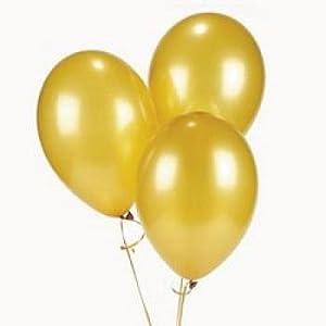 "11"" Gold metallic balloons (12 Dozen) - BULK by Oriental Trading Company"