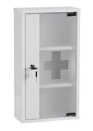 Wohnling-WL1346-Medizinschrank-abschliebar-Erste-Hilfe-Schrank-48-x-26-x-12-cm-wei