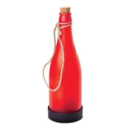 Youngman LED Solar Powered Bottle Light Hanging Patio Lamp Decorative Bottle Light (Red)