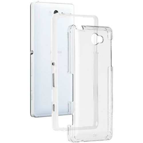 Case-Mate 日本正規品 au Xperia ZL2 SOL25 Hybrid Tough Naked Case, Clear / Clear ハイブリッド タフ ネイキッド ケース クリア / クリア [Made for XPERIA] CM031089