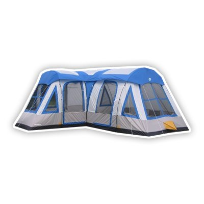 Tahoe Gear Gateway 12 Person Deluxe Cabin Family Tent